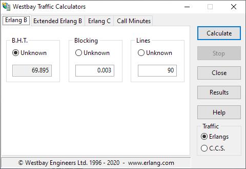 Westbay Traffic Calculators
